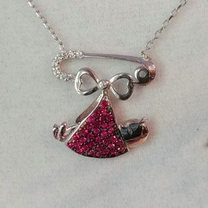 Jewelry - Pink Bundle of Joy Sterling Necklace